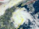 台风路径实时发布系统6号台风烟花云图 再次登陆浙江后最新云图实况