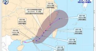 福建台风路径实时发布系统路径图 台风卢碧将生成或直接影响福建